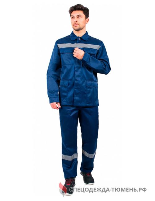 Костюм Эксперт-1 СОП (тк.Смесовая,210) брюки, т.синий