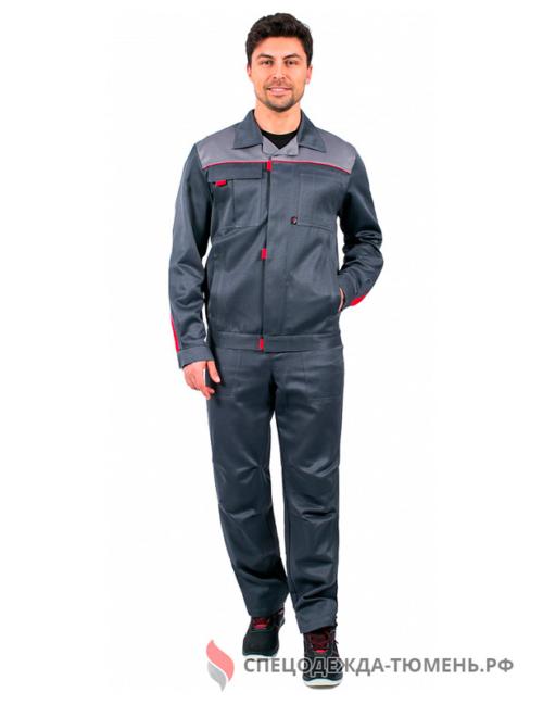 Костюм Фаворит-1 (тк.Смесовая,210) брюки, т.серый/серый