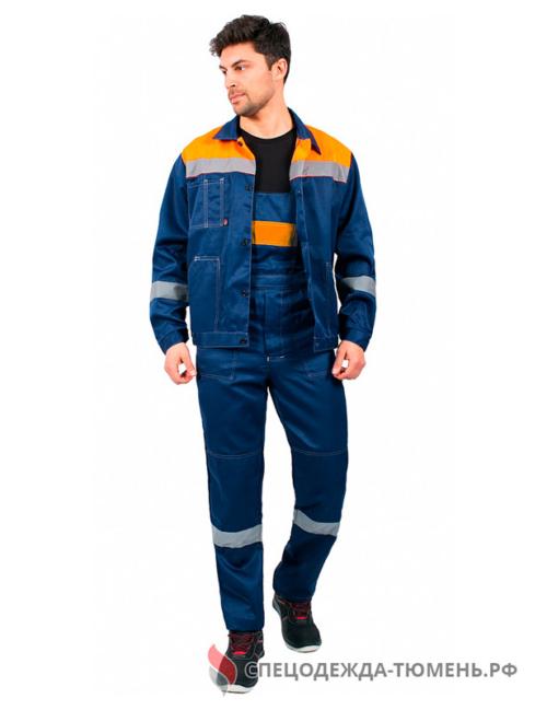 Костюм Легион-2 СОП (тк.Смесовая,210) п/к, т.синий/оранжевый