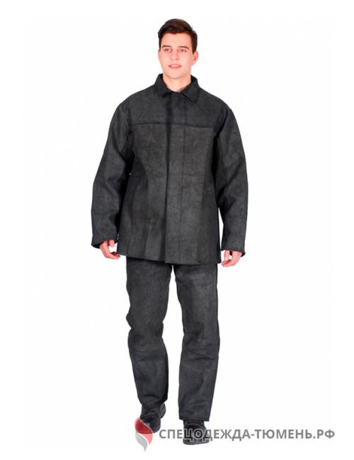 Костюм сварщика цельноспилковый 3 кл.защиты (Спилок 0,9-1,2), черный