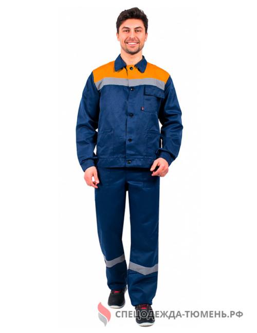 Костюм Труженик-2 СОП (тк.Смесовая,210) п/к, т.синий/оранжевый