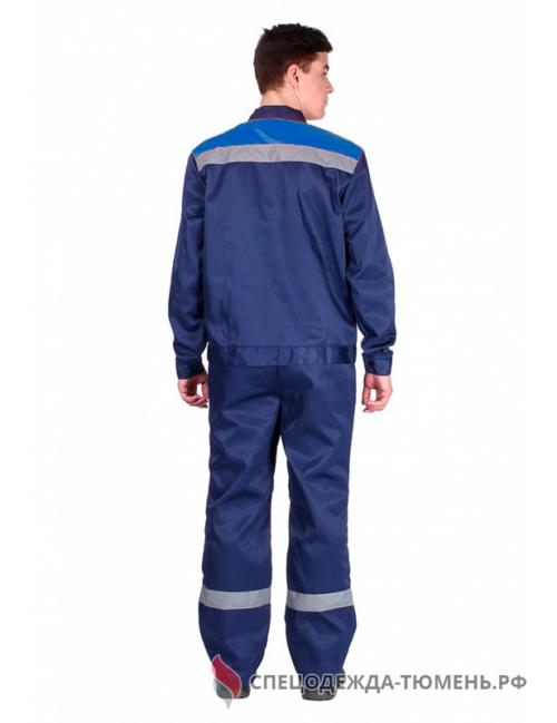 Костюм Труженик-2 СОП (тк.Смесовая,210) п/к, т.синий/васильковый