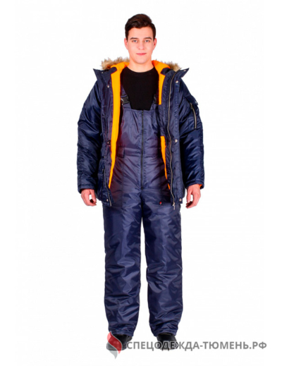Куртка зимняя Аляска (тк.Оксфорд), т.синий