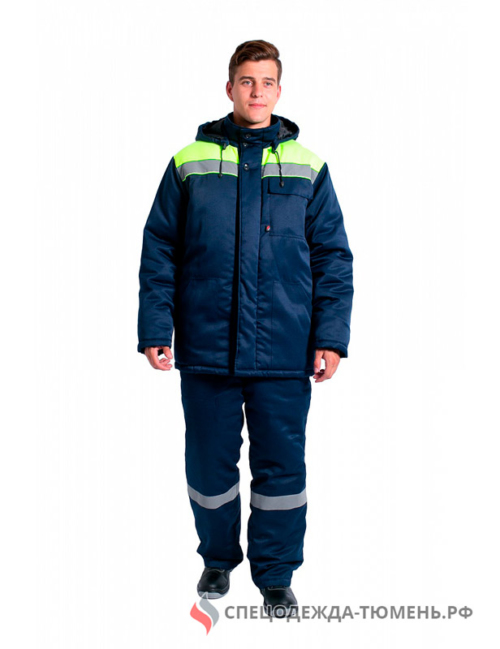 Куртка зимняя Эксперт-ЛЮКС NEW, т.синий/лимонный