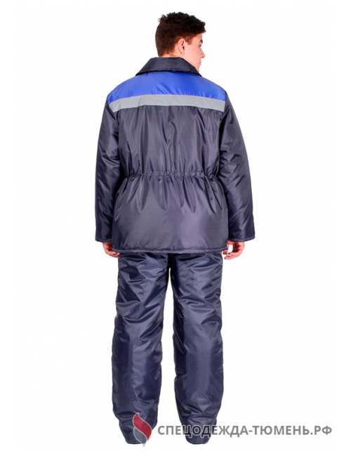 Куртка зимняя Стандарт-Лайт (тк.Оксфорд), т.синий/васильковый