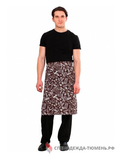 Передник Шоколад (тк.Форвард,200), коричневый/кухня