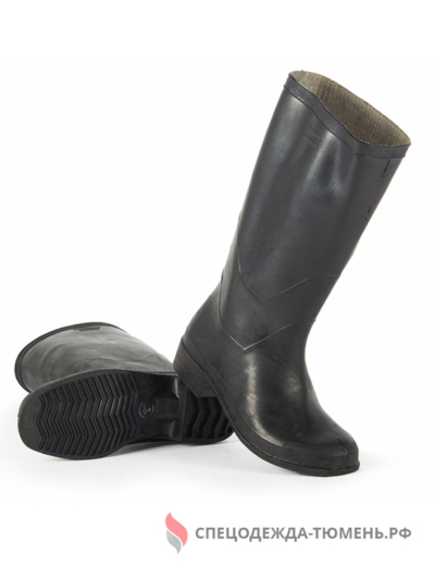 Сапоги формовые резиновые (1 сорт), черный