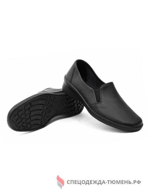 Туфли женские нат.кожа ПУ, черный