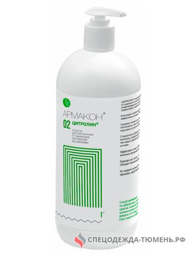 Гель ЦИТРОЛИН для очистки кожи без абразива с дозатором, 1л.(упак. 12 шт) арт. 1165