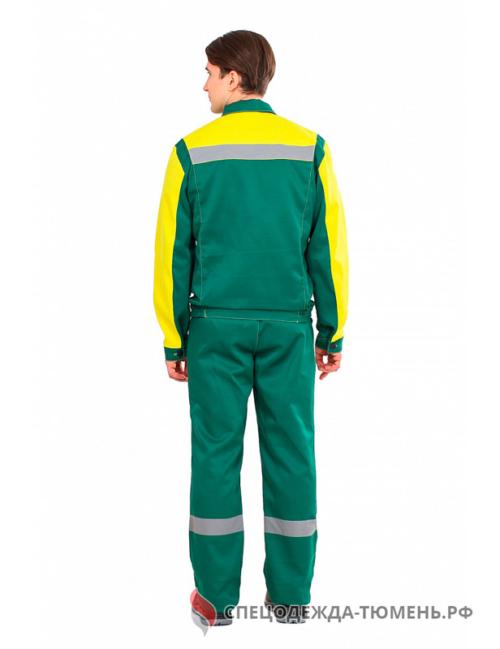 Костюм Сфера NEW (тк.Смесовая,210) п/к, зеленый/желтый