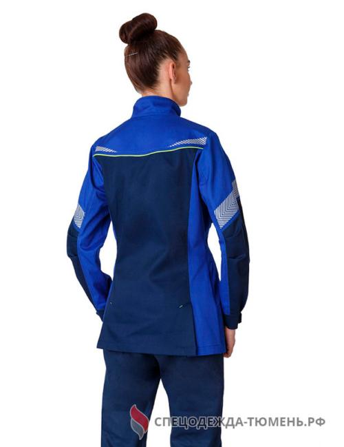 Куртка удлиненная женская PROFLINE SPECIALIST, т.синий/васильковый