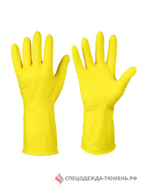 Перчатки резиновые хозяйственные тип ЛОТОС