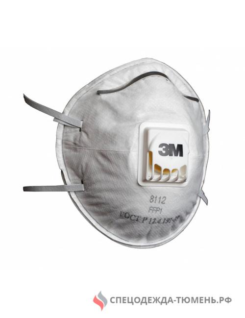 Респиратор 3М™ 8112 (FFP1) с клапаном, противоаэрозольный