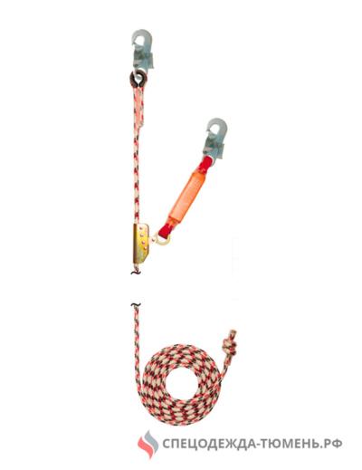 Зажим на гибкой анкерной линии (с амортизатором), длиной 10 метров