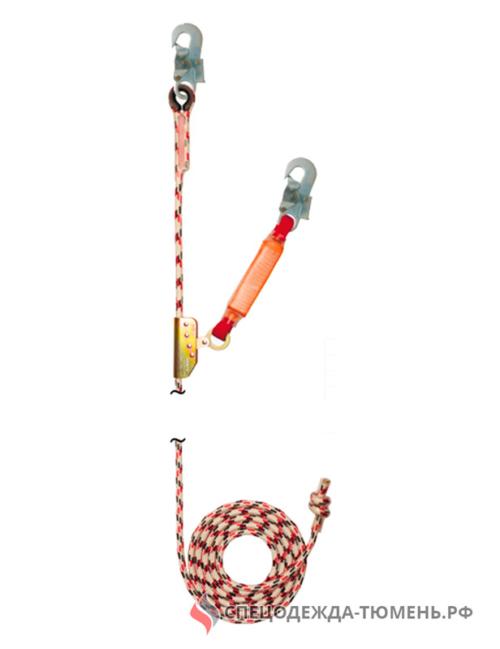 Зажим на гибкой анкерной линии (с амортизатором), длиной 20 метров