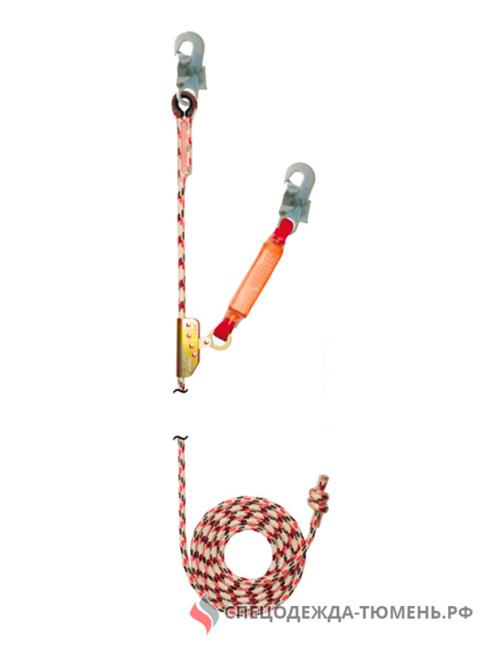 Зажим на гибкой анкерной линии (с амортизатором), длиной 30 метров