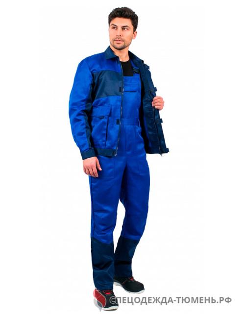 Костюм Специалист NEW (тк.Смесовая,210) п/к, васильковый/т.синий