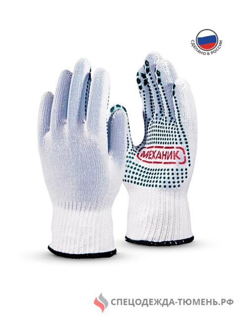 Перчатки Манипула Механик (TNG-29, бел. нейлон, хлопок+ПВХ)