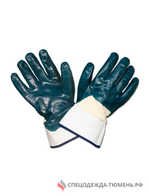 Перчатки нитриловые обливные ЛЮКС крага