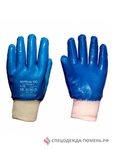 Перчатки трикотажные МУРЕНА-100 с полным латексным покрытием (Россия)