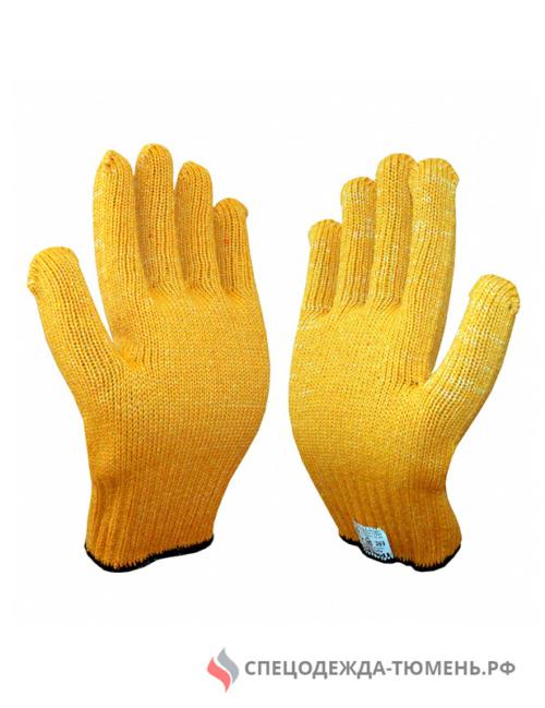 Перчатки трикотажные ТРАКТОР (желтый) (Россия)