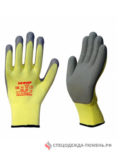 Перчатки трикотажные ЗЕФИР со вспененным латексом (Россия)