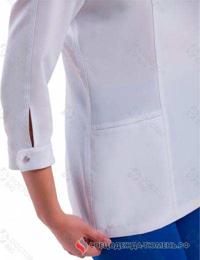 Блузон женский №312 (тк.Satory) DoctorBIG, белый