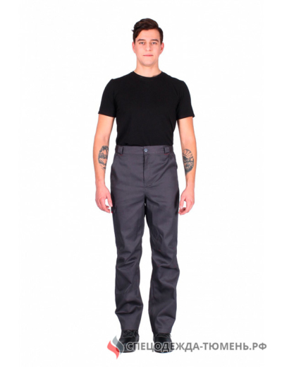 Костюм Идеал NEW (тк. Балтекс) брюки, т.серый/красный