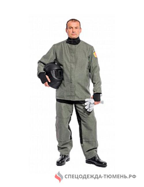Костюм сварщика Сталь-1, 3 кл.защиты (брюки) БиН, серый/черный