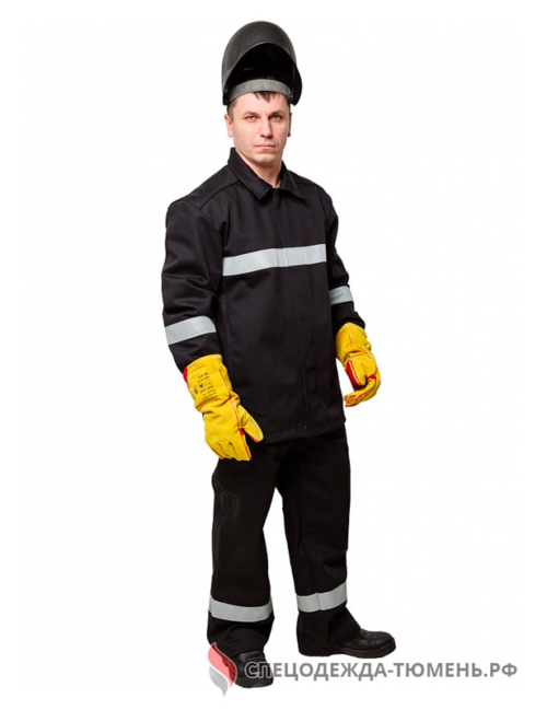 Костюм сварщика WORKER 3 кл.защиты (тк.100% хб,500) КСв №124 W, черный