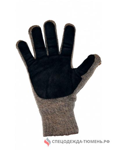 Перчатки трикотажные ЯНВАРЬ УЛЬТРА со спилковыми накладками (Россия)