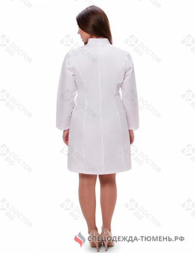 Халат женский №202 (тк.streich) DoctorBIG, белый