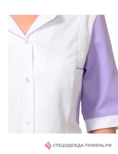 """Костюм """"ИОНА"""" женский: куртка, брюки, белый с сиреневым"""