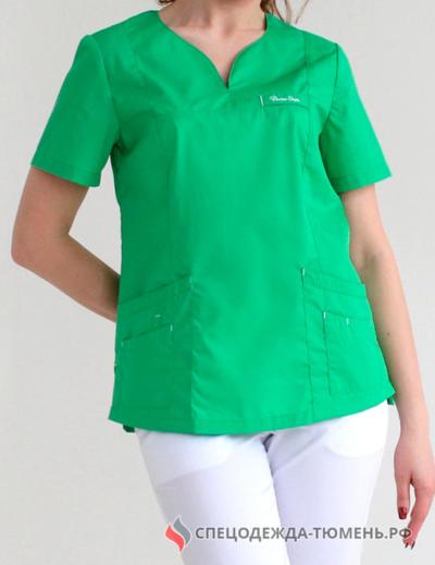 Блуза «Нева», зелёное яблоко