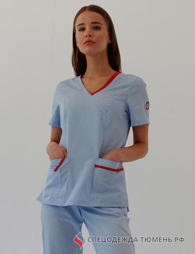 Блуза «Терра», голубой