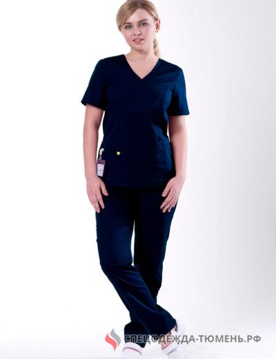 Блуза «Терра», тёмно-синий