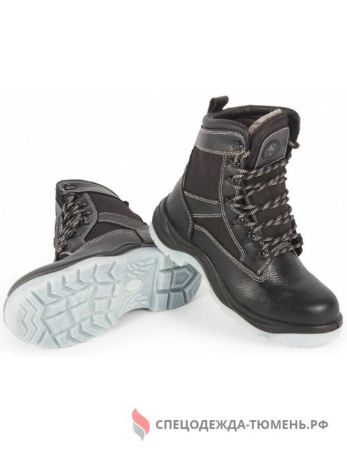 Ботинки высокие (натуральный мех) МН ПУ/ТПУ ЭлитСпецОбувь (арт.26НМ), черный