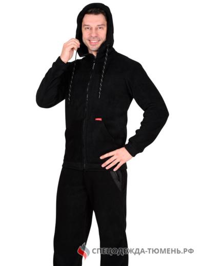 """Куртка флисовая """"Меркурий"""" черная"""