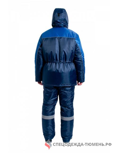 Куртка зимняя для инженера NEW, т.синий/васильковый