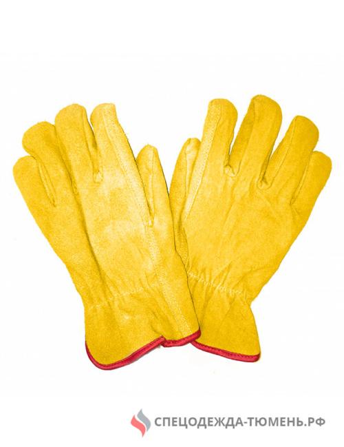 Перчатки спилковые утепленные Драйвер