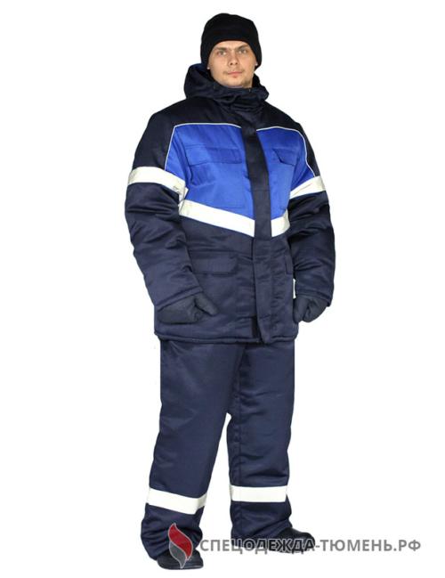 "Костюм зимний ""ВЕКТОР"" куртка/полукомб, цвет: т.синий"