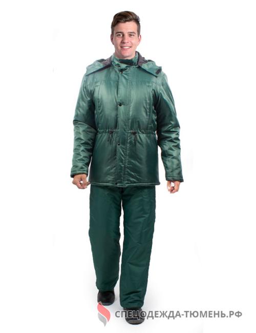 Куртка зимняя Охранник-Гарант (тк.Оксфорд), т.зеленый