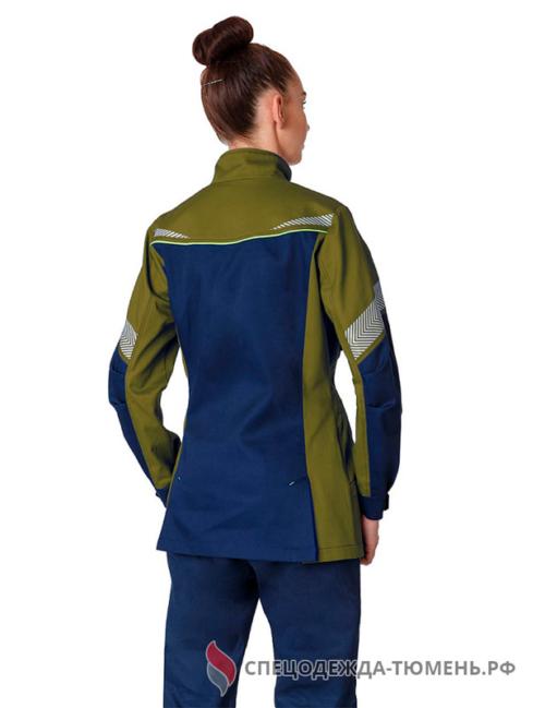 Куртка удлиненная женская PROFLINE SPECIALIST, т.синий/оливковый