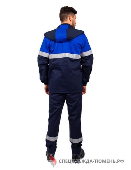 Костюм от статического электричества СОП (тк.Смесовая МВО,250), т.синий/васильковый