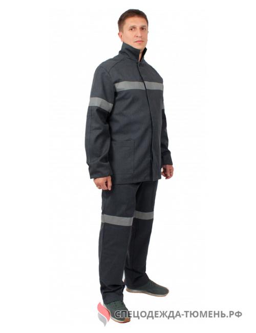 Костюм шахтерский пылезащитный Горизонт-1 СОП (тк.Горизонт,400), т.серый