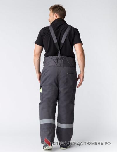 Костюм зимний Ховард (тк.Балтекс,210) брюки, т.серый/лимон