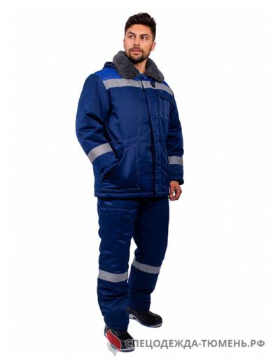 Костюм зимний Легион-Ультра СОП (тк.Смесовая,210) брюки, т.синий/васильковый