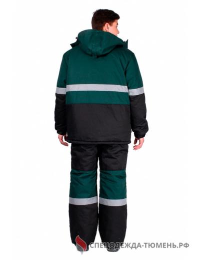 Костюм зимний Профи-Норд (тк.Марк,250) п/к, черный/зеленый