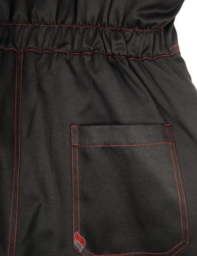 Костюм зимний Титан (Смесовая, 210) п/к, черный/красный