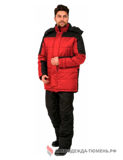 Куртка зимняя Европа (тк.Дюспо), красный/черный